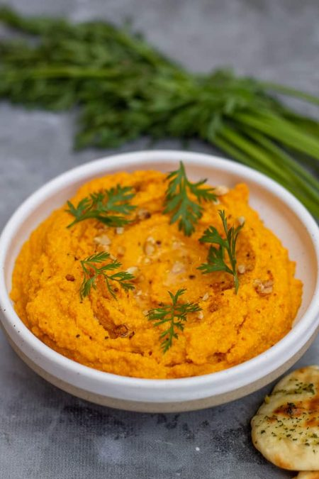 carrot and cashew dip