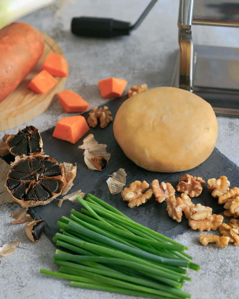 all ingredients needed to make agnolotti