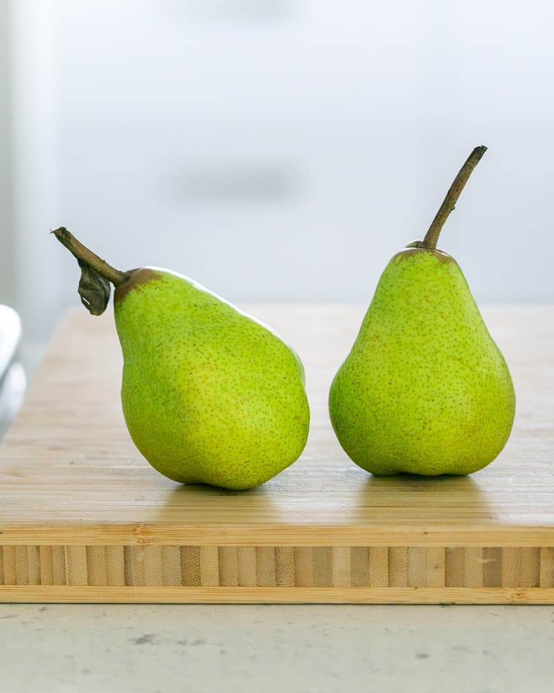 Packham's pears used as topping for the Caramel Petit pot