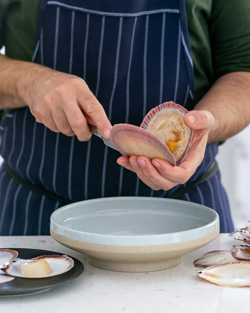 How to shuck and clean scallops