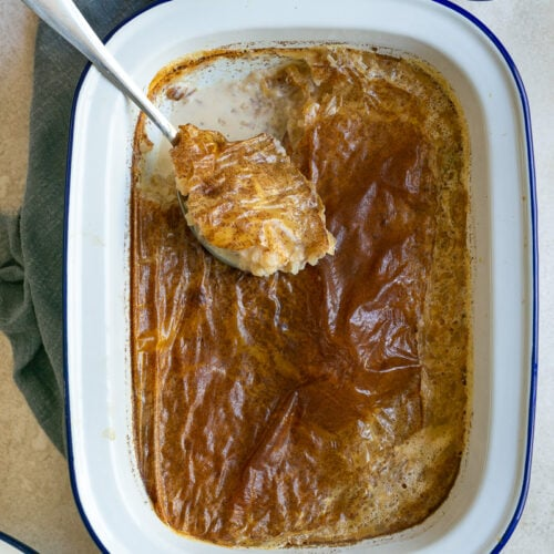 French Baked Rice Pudding