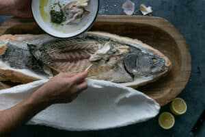 How to serve Whole Baked Barramundi in a Salt crust