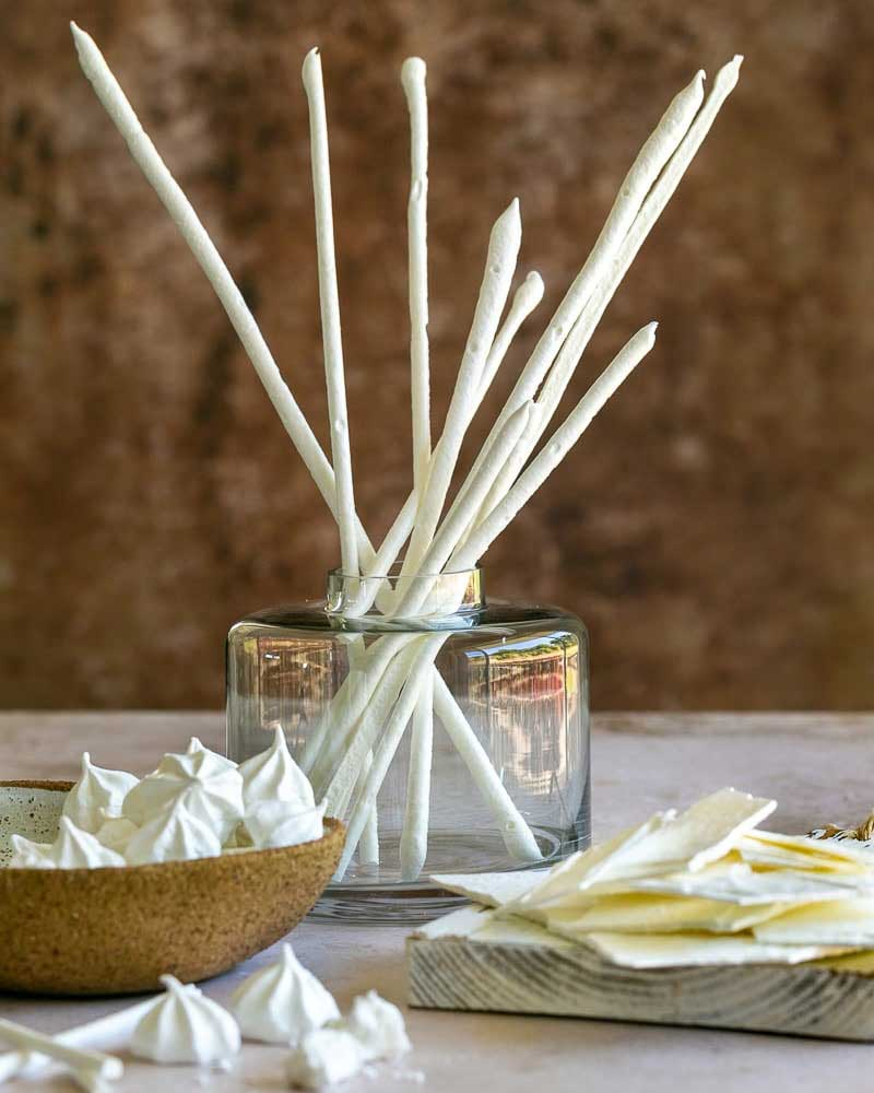 Three type of Meringue in the picture - sticks, drops and shards